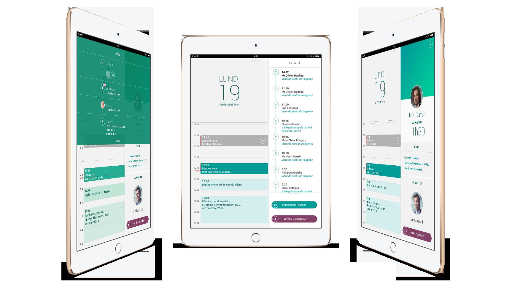 Solution digitale mobile sur tablette pour les conseillers BNP