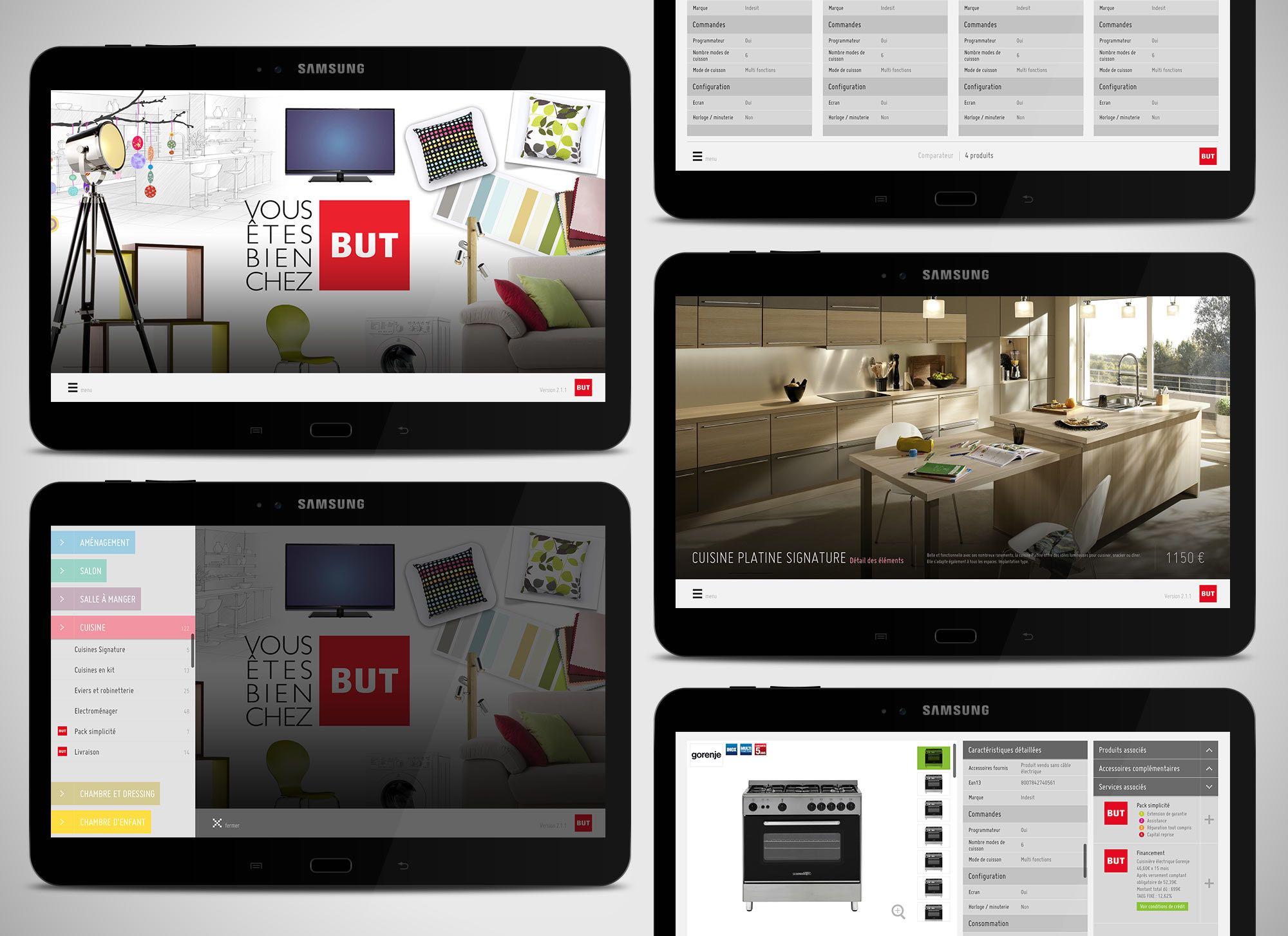 Solution digitale in-store BUT par Oyez