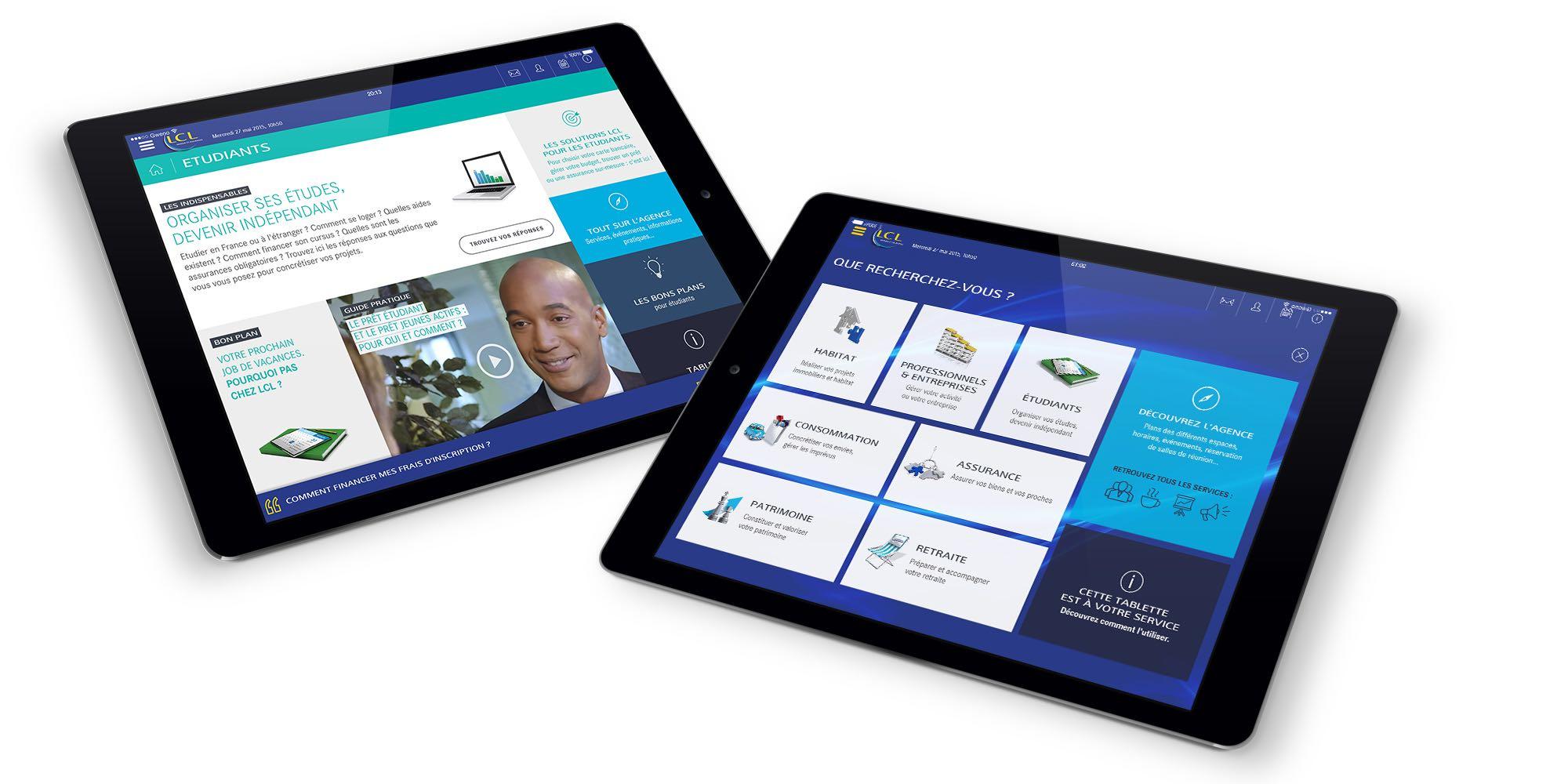 Solution pour tablette agence LCL